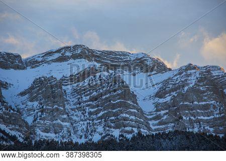 Winter Serra Del Cadi In La Cerdanya, Pyrenees, Spain