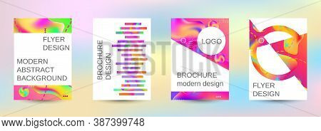 Minimum Vector Coverage. Artistic Covers Design. Creative Fluid Colors Backgrounds.  Blurred Bright