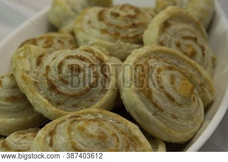 Home Made Pastry Rolls, Made Of Flaky Dough And Caciocavallo Cheese