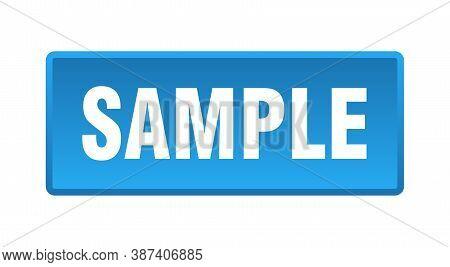 Sample Button. Sample Square Blue Push Button