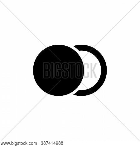 Moon Phase, Astronomy Lunar Eclipse. Flat Vector Icon Illustration. Simple Black Symbol On White Bac