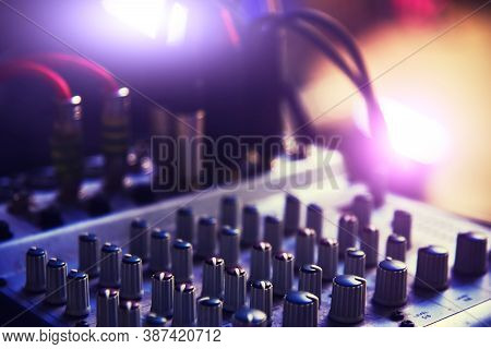 Sound Dj Mixer At The Concert, Audio System