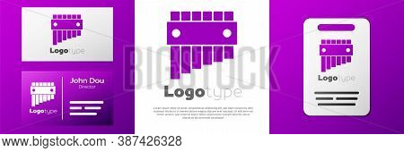 Logotype Pan Flute Icon Isolated On White Background. Traditional Peruvian Musical Instrument. Folk