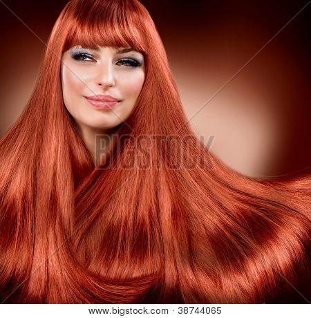 Hair. Healthy Straight Read Hair. Extension