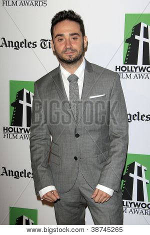 LOS ANGELES - OCT 22:  Juan Antonio Bayona arrives at  the 2012 Hollywood Film Festival Gala at Beverly Hilton Hotel on October 22, 2012 in Beverly Hills, CA