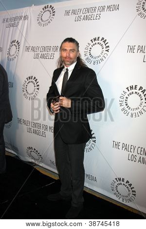 LOS ANGELES - OCT 22:  Anson Mount arrives at  the Paley Center for Media Annual Los Angeles Benefit at The Lot on October 22, 2012 in Los Angeles, CA