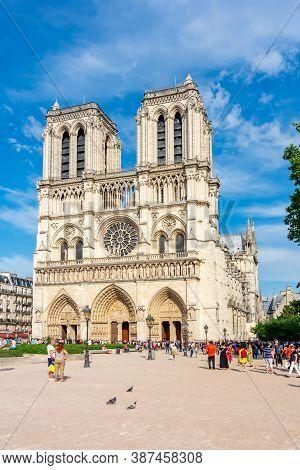 Paris, France - May 2019: Notre-dame De Paris Cathedral