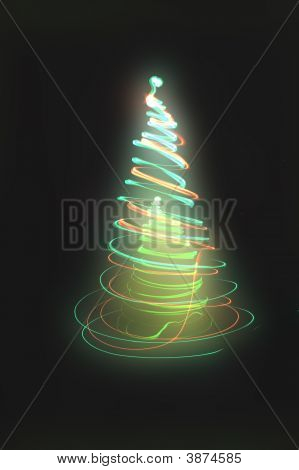 xmas tree (lights) on the black background poster