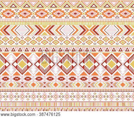 Gypsy Pattern Tribal Ethnic Motifs Geometric Seamless Background. Cute Gypsy Tribal Motifs Clothing