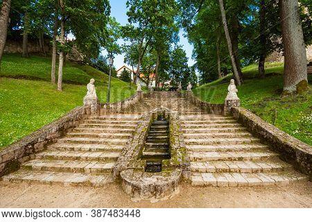 Stairway In The Castle Park, Cesis, Latvia