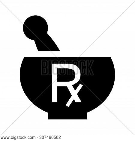 Mortar Rx Symbol Icon With A White Background