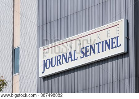 Milwaukee, Wi: 23 September 2020:  The Milwaukee Journal Sentinel Newspaper Located In Downtown Milw