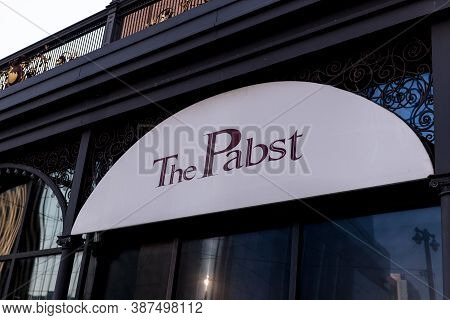Milwaukee, Wi: 2\2 September 2020:  The Pabst Theater Located In Downtown Milwaukee