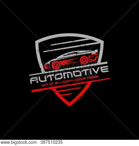 Automotive Repair Car Logo With Rustic Badge Vector, Best For Your Automotive Company Logo Brand
