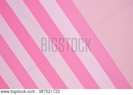 Pink Striped Paper Background In Pastel Colors.striped Geometric Background. Paper Abstract Texture.