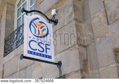Bordeaux , Aquitaine / France - 09 25 2020 : Csf Sign Text And Logo Of French Personal Civil Servant