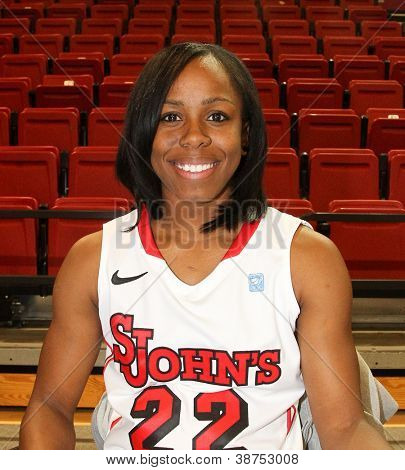 NEW YORK-OCT. 23: St. John's Red Storm guard Eugenia McPherson during media day on October 23, 2012 at Carnesecca Arena, Jamaica, Queens, New York.