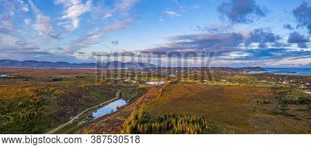 Aerial View Of Bonny Glen By Portnoo In County Donegal - Ireland
