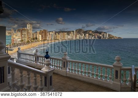 Editorial Benidorm, Spain - November 19, 2019: From The Mirador Del Castell, Benidorm High Rise Apar