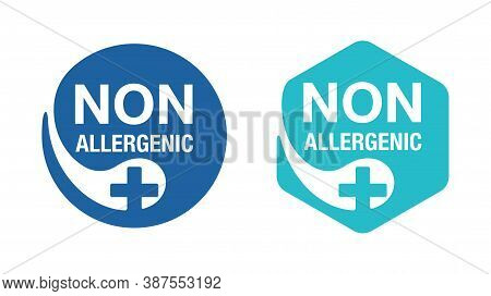 Non Allergenic Stamp For Products Which Not Contains Allergens - Hexagonal And Circular Versions