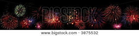 Line Of Fireworks