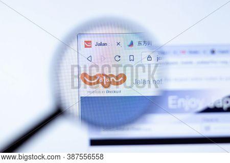 New York, Usa - 29 September 2020: Jalan Jalan.net Company Website With Logo Close Up, Illustrative