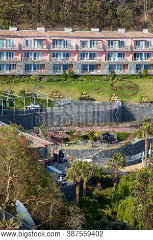 Cabo Girao, Madeira, Portugal - April 18, 2018: Apartments Near Cabo Girao On Madeira Island, Portug