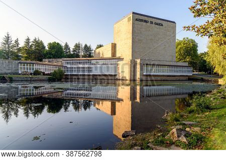 Santiago De Compostela, Spain - July 22, 2020: View Of Auditorio De Galicia, Auditorium Of Galicia,