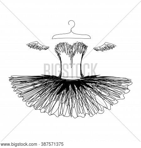 Ballet Tutu On A Hanger Silhouette