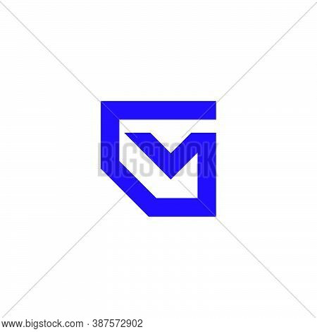 A Logo Of The Letter G And The Letter M Which Forms A Letter Envelope