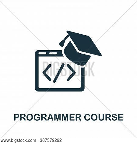 Programmer Course Icon. Simple Element From Online Course Collection. Creative Programmer Course Ico