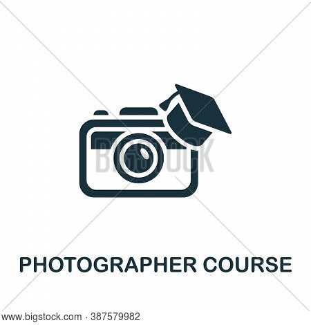 Photographer Course Icon. Simple Element From Online Course Collection. Creative Photographer Course