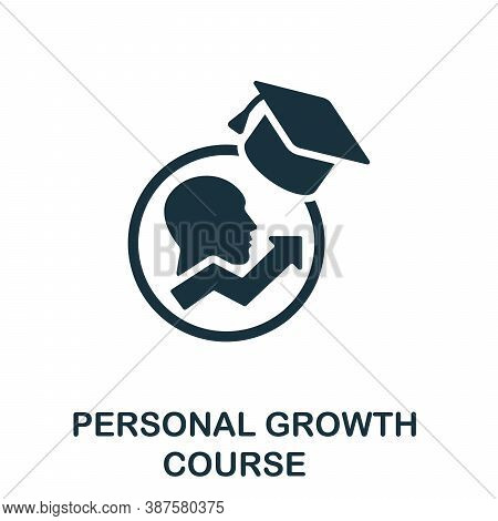 Personal Growth Course Icon. Simple Element From Online Course Collection. Creative Personal Growth