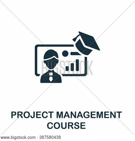 Project Management Course Icon. Simple Element From Online Course Collection. Creative Project Manag