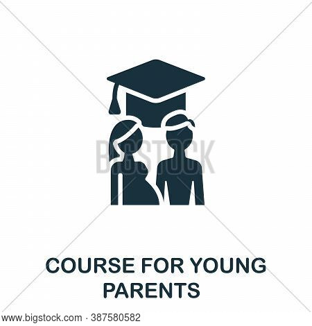 Course For Young Parents Icon. Simple Element From Online Course Collection. Creative Course For You