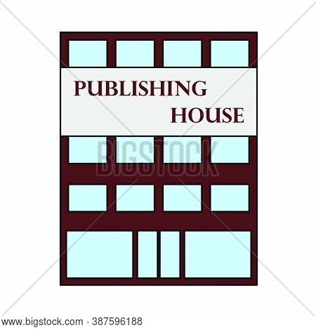 Publishing House Icon. Outline With Color Fill Design. Vector Illustration.