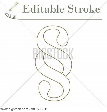 Paragraph Symbol Icon. Editable Stroke Simple Design. Vector Illustration.