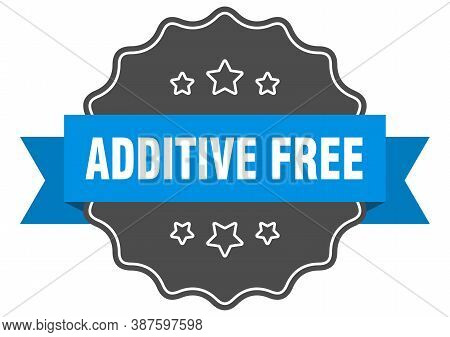Additive Free Label. Additive Free Isolated Seal. Sticker. Sign