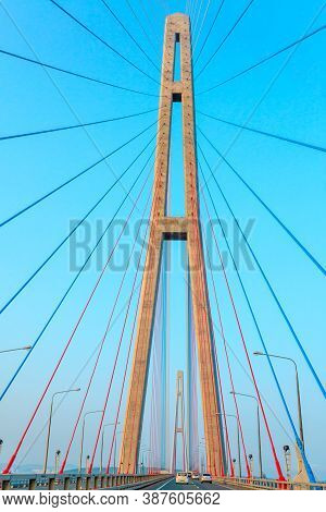 Fragment Of Cable-stayed Bridge
