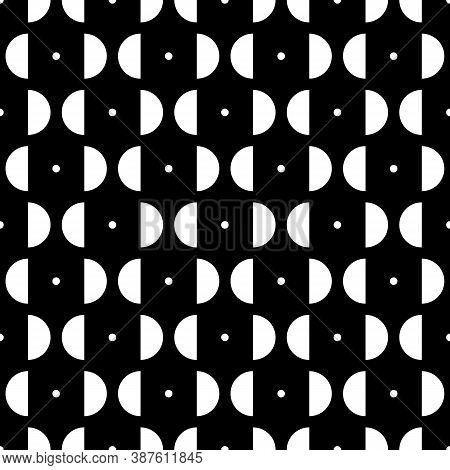 Mini Circles, Semicircles Seamless Pattern. Ethnic Ornament. Geometrical Background. Folk Wallpaper.