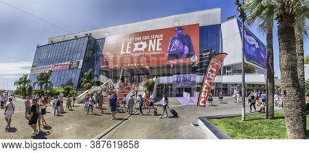 Cannes, France - August 15: Palais Des Festivals Et Des Congres, Cannes, France, On August 15, 2019.