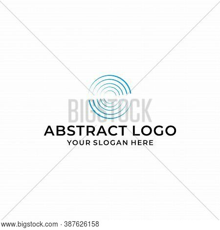 A Modern, Clean And Unique Logo That Represents A Rotated Line Circle. Industrial & Technology Busin