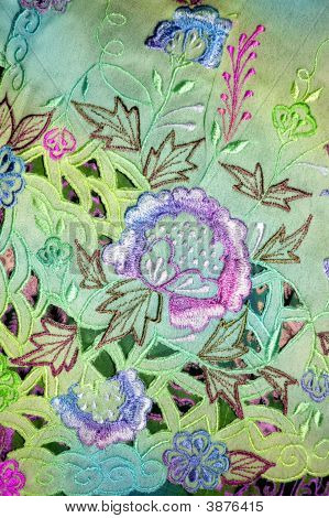 Kebaya Floral turquesa