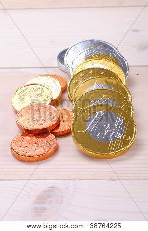 money made of chocolate