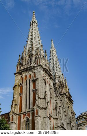 Pseudo-gothic Style Architecture, St. Nicholas Church, Roman Catholic Church In Kiev, Ukraine