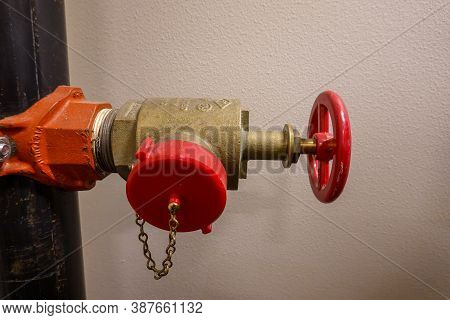 Seattle, Wa/usa - 9/6/19:  A Water Shutoff Valve In An Apartment Complex In Seattle, Wa.