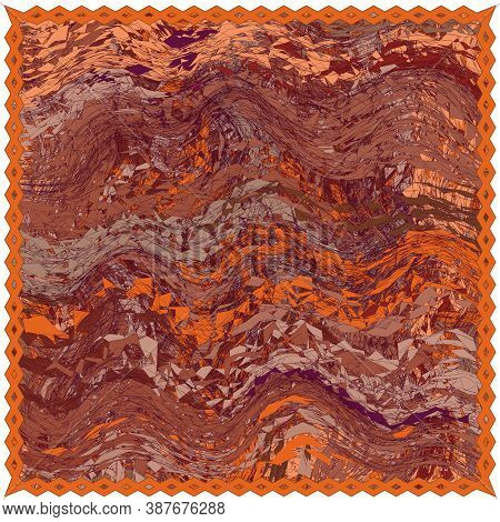 Square Rug, Mat, Carpet, Napkin, Plaid , Serviette ,tapestry With Weave Abstract  Oriental Grunge Wa