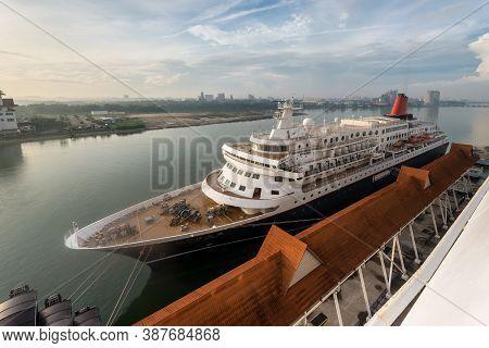 Kuala Lumpur, Malaysia - December 2, 2019: Ms Nippon Maru Cruise Ship Moored In Port Klang Near Kual
