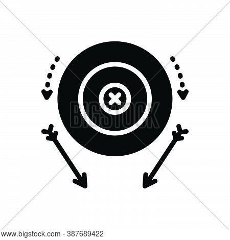 Black Solid Icon For Miss Fail Target Failure Tarrow Accurate Lack Achievement Aim Bullseye Goal