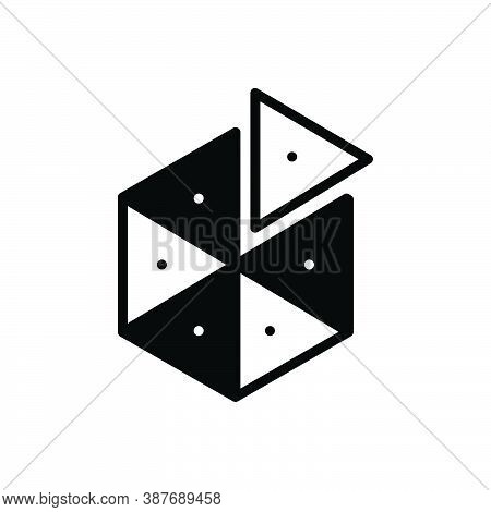 Black Solid Icon For Piece Slice Object Division Partition Split